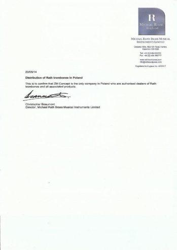 MICHAEL-RATH Certyfikat