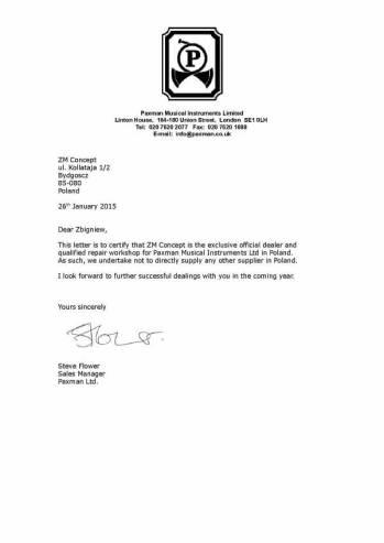 PAXMAN-Certyfikat